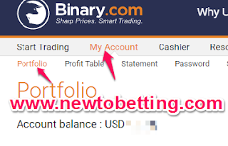 My binary options account
