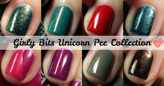 Girly Bits Unicorn Pee Collection swatch by Streets Ahead Style