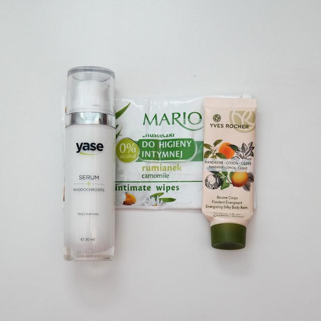 serum Yase, Marion chusteczki do higieny intymnej, Yves Rocher Balsam Mandarynka