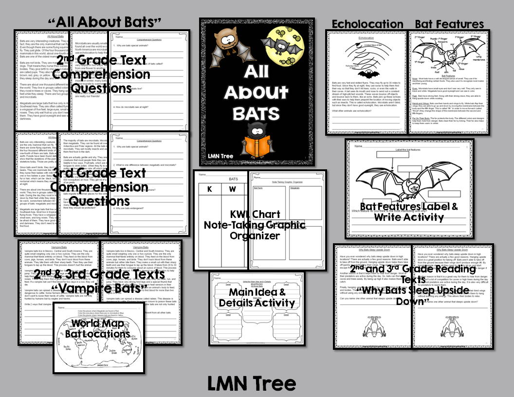 Lmn Tree All About Bats Free Resources Books And Literacy Activities