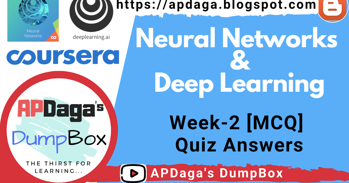 Coursera: Neural Networks and Deep Learning (Week 2) Quiz [MCQ
