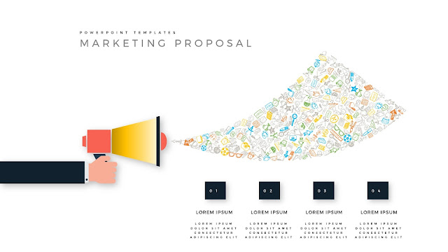 Marketing Proposal using Megaphone for PowerPoint Templates Slide 1
