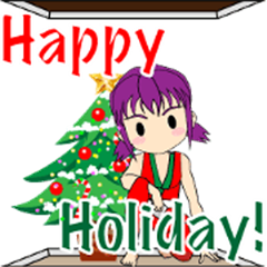 Moving Ninja Girl -Holiday greeting-[EG]