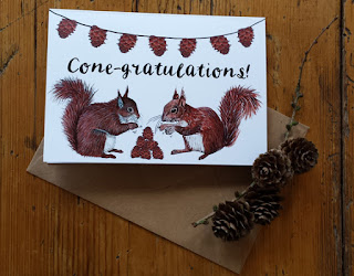 Cone-gratulations card by Alice Draws The Line
