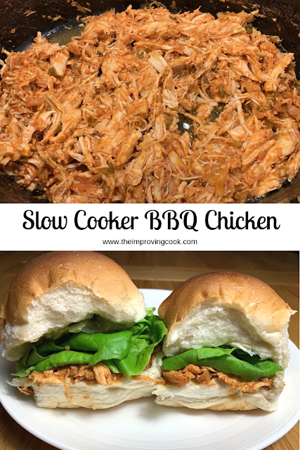 shredded BBQ chicken and BBQ chicken in soft rolls