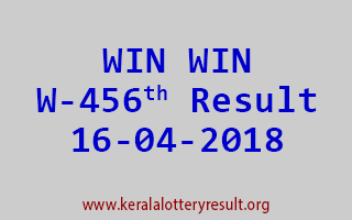 WIN WIN Lottery W 456 Result 16-04-2018