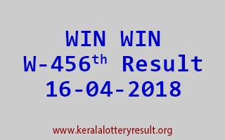 WIN WIN Lottery W 456 Result 16-04-2018