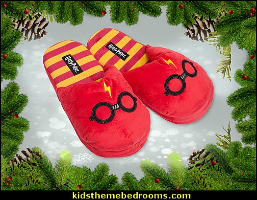 Harry Potter Plush Slippers   Gift ideas - fun novelty gift shopping ideas - gift ideas - slippers - sleep wear - personalized gifts - cool stuff to buy