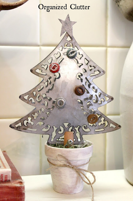 Galvanized Christmas Tree Craft Project