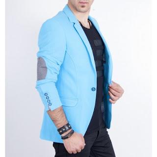 turkuaz blazer ceket erkek
