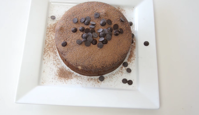 Receta de tarta de chocolate de solo 3 ingredientes