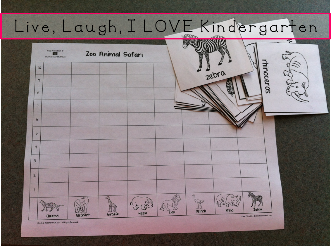 Live Laugh I Love Kindergarten Summer School Zoo Week