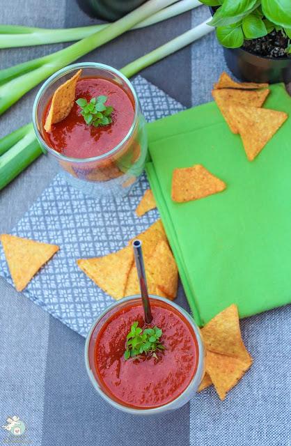kalte Tomaten-Paprika-Suppe - sooo gut