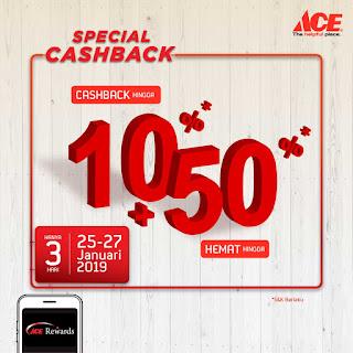 #AceHardware - #Promo Cashback s.d 10% + 50% Hemat (s.d 27 Jan 2019)