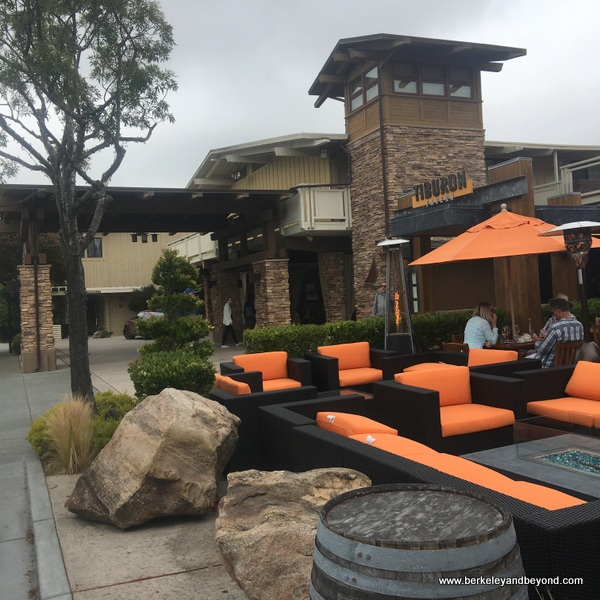 front patio at Tiburon Tavern at The Lodge at Tiburon in Tiburon, California