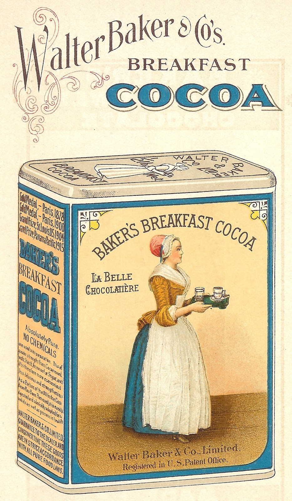 Antique Graphics Wednesday 1923 Baker S Chocolate And