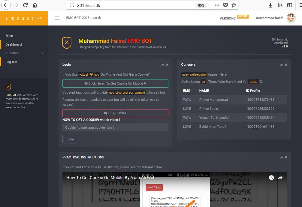 New Reaction Bot Site By Muhammad Faisal - Muhammad Faisal