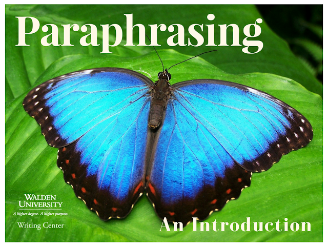 Paraphrasing means job