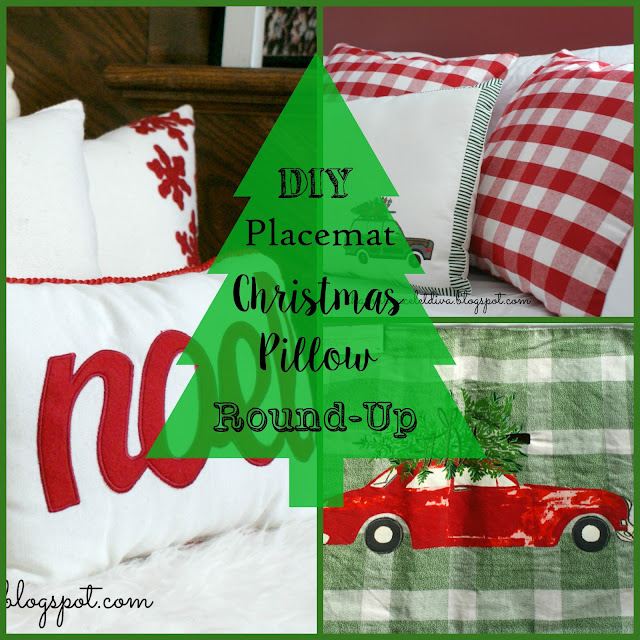 DIY Placemat Christmas Pillow Round-Up