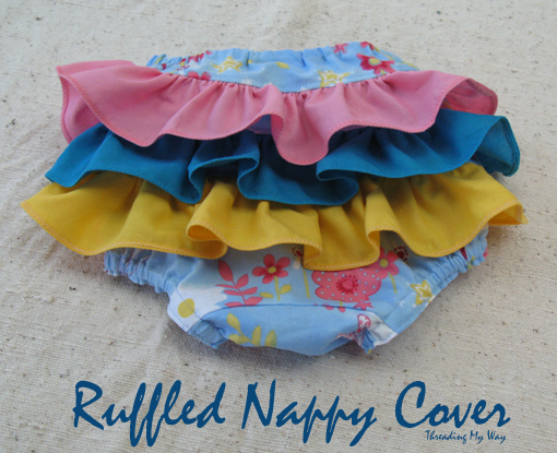 Threading My Way Ruffled Nappy Cover