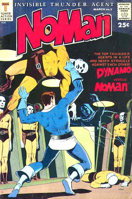 Noman v1 #2 - Wally Wood tower silver age 1960s comic book cover art