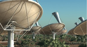 The Square Kilometre Array (SKA - around 3,000 dishes each 15 metres in diameter
