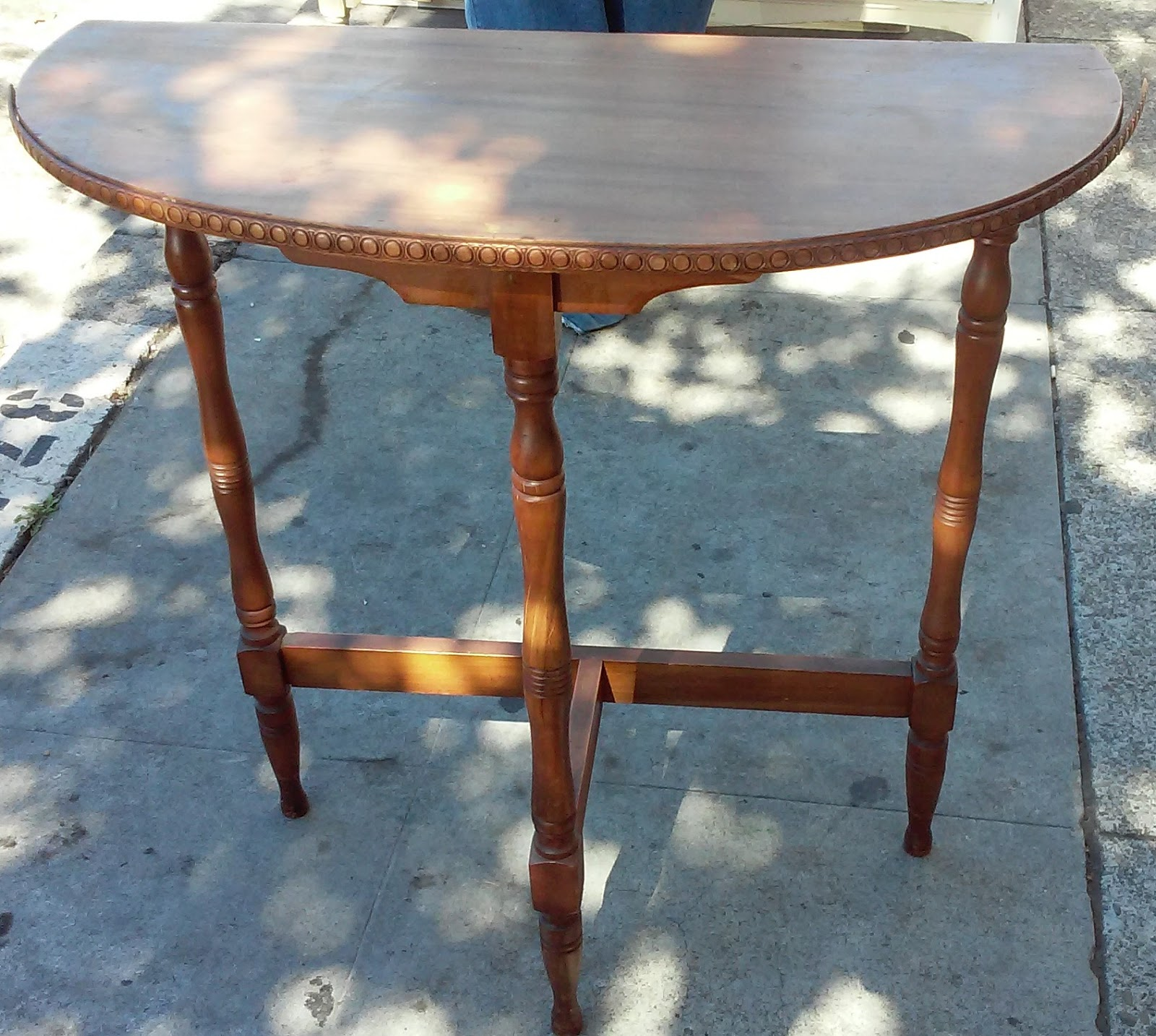 UHURU FURNITURE & COLLECTIBLES: SOLD Half Moon Side Table ...