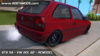 VW GOL G2 - REMODELADO Japa 3D para GTA San Andreas, GTA SA