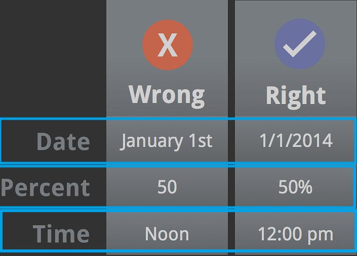 Menggunakan format angka dengan benar