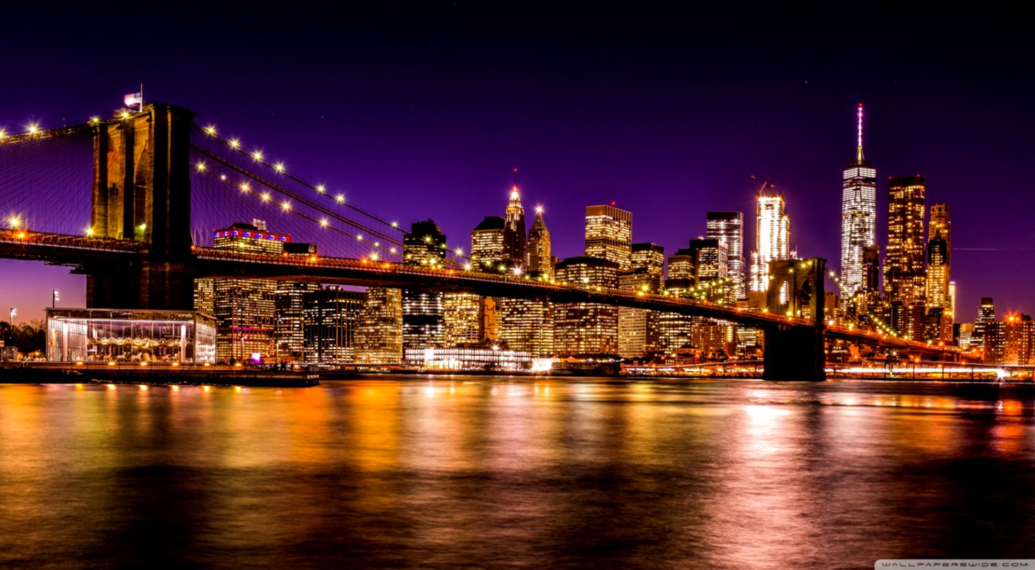 Brooklyn Bridge Wallpaper Gold Wallpapers