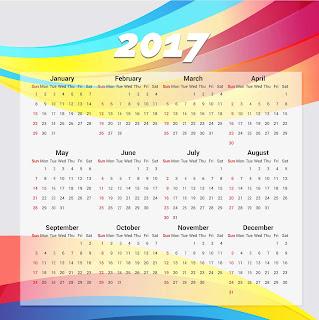 2017カレンダー無料テンプレート175