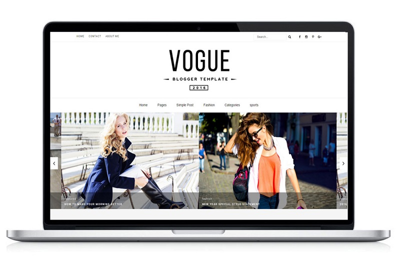 Image for vogue 2016 blogger template