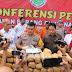 Kapolres Langkat Kembali Musnahkan 220 Bal Daun Ganja Kering