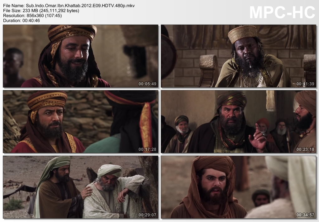 Screenshots Download Film Gratis Omar aka Farouk Omar aka Omar Ibn Al-Khattab (2012) HDTV 480p MP4 Subtitle Indonesia 3GP Nonton Film Gratis Free Full Movie Streaming