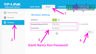 mengganti password wifi tp-link