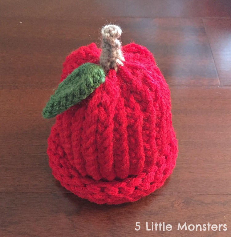 bdb7b4d75fc I thought it turned out super cute and would be perfect for a little late  summer early fall baby. All done in red yarn with a rolled ...