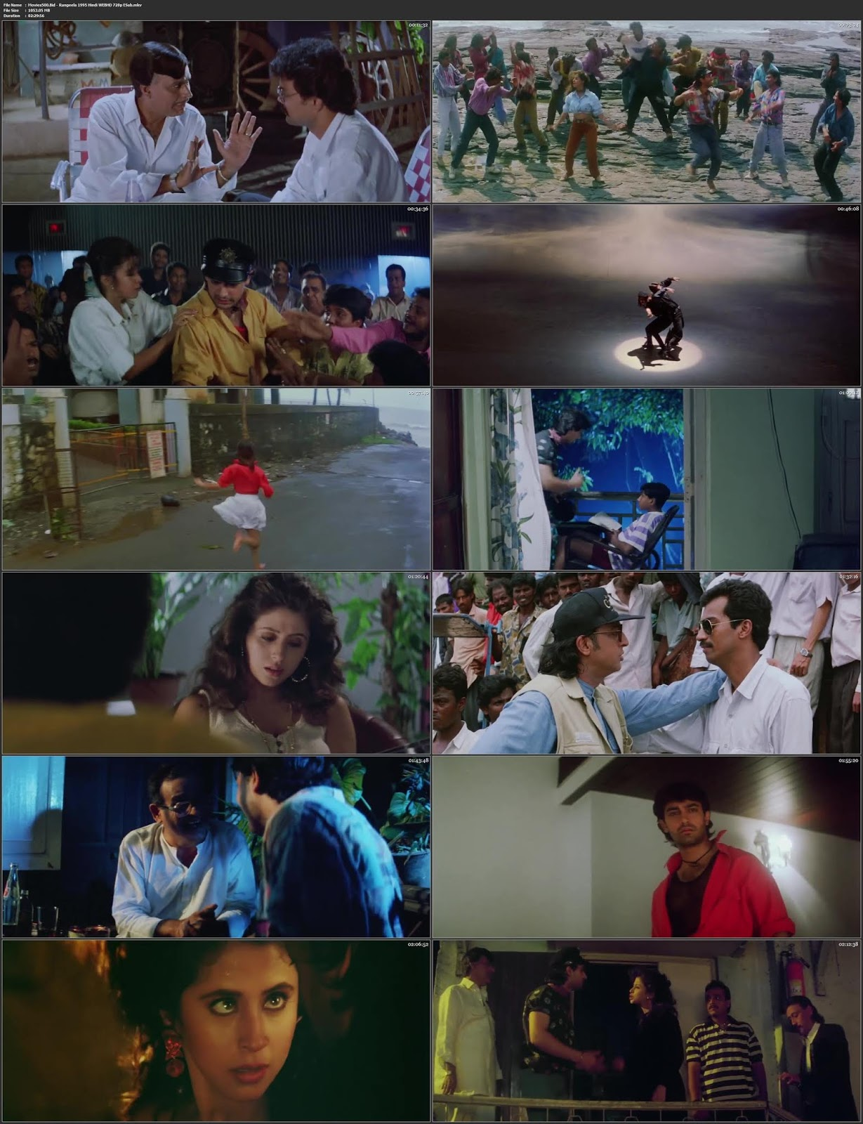 Rangeela 1995 Hindi Full Movie WEB HD 720p ESubs