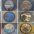 """Manhole covers that feature works of art in Japan"""