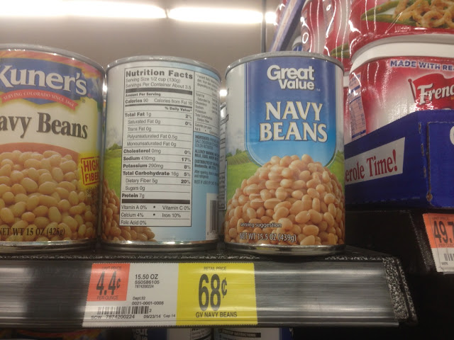 Navy Beans, Great Value - Walmart