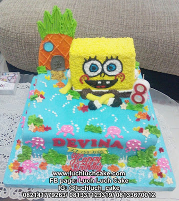 Spongebob Birthday Cake 3D With Pinepple House