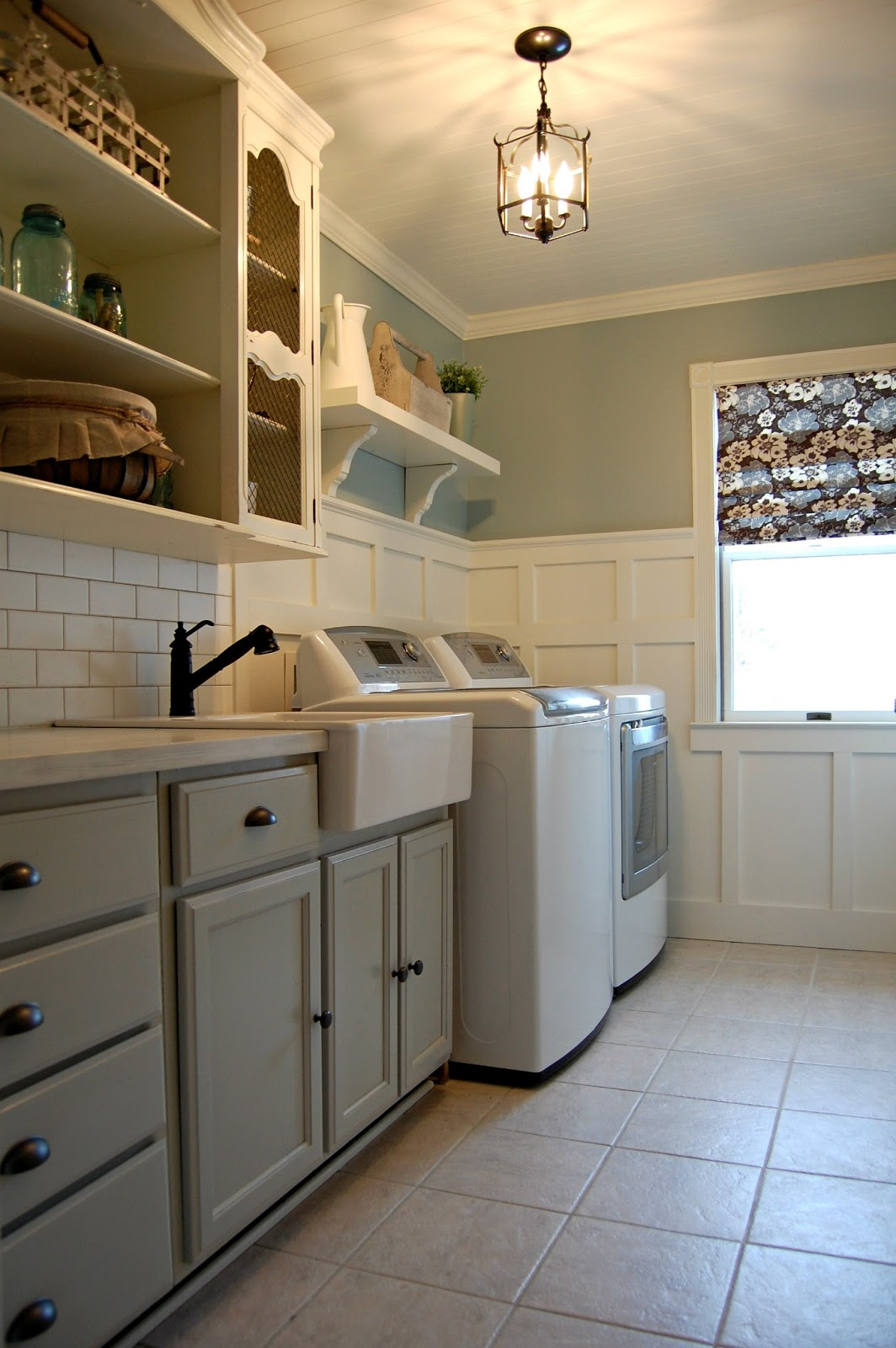Yellow And Grey Bathroom Decorating Ideas Roly Poly Farm Laundry Room Reveal