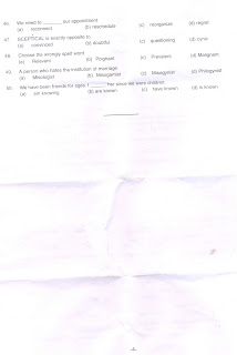 QUESTION PAPER OF POSTAL ASSISTANT/SORTING ASSISTANT