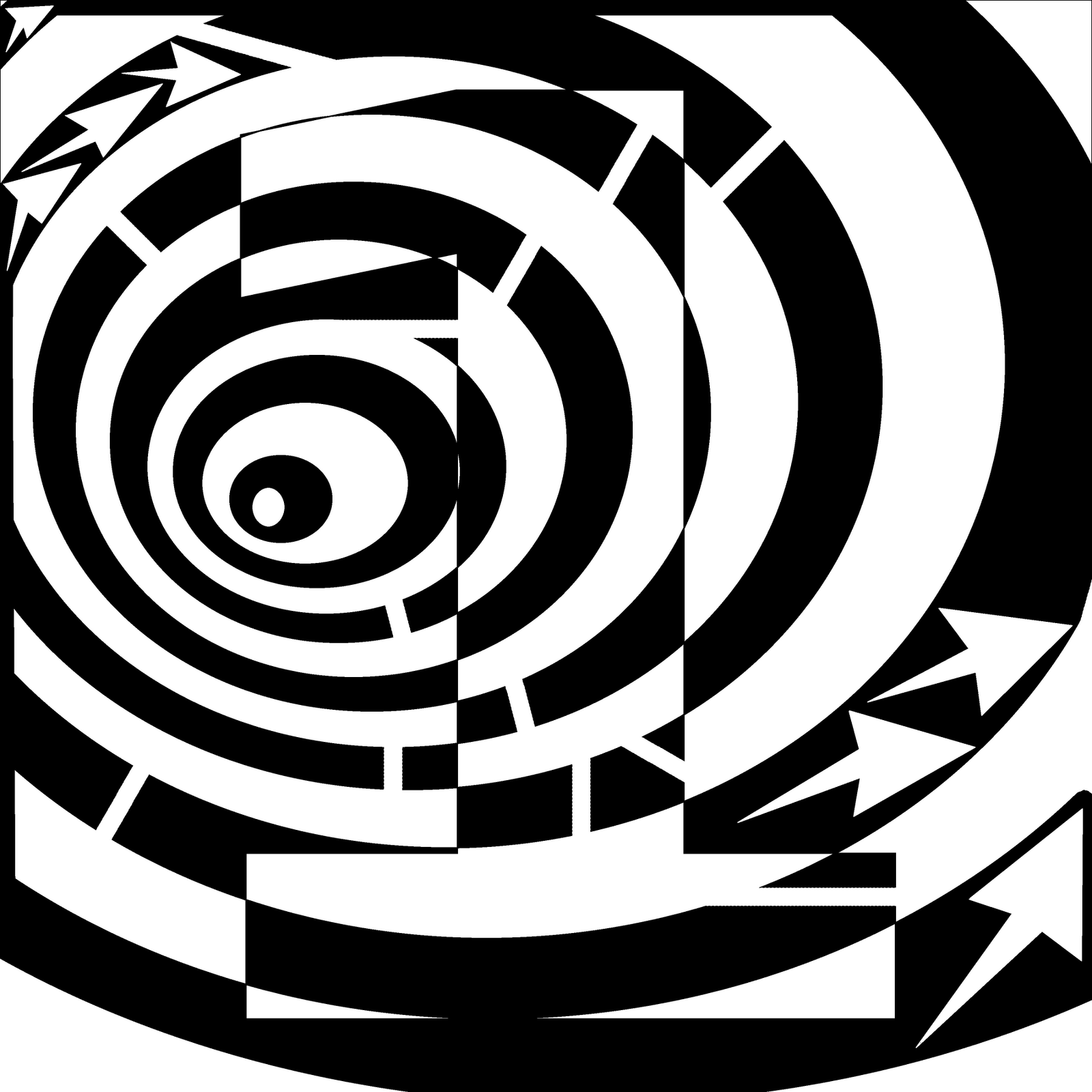 number maze optical illusion artist frimer yonatan illusions drawing fantastic numbers mazes drawings proportions