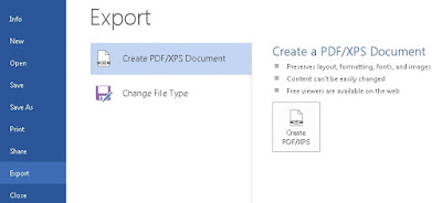 Cara Membuat File PDF di Microsoft Office Word 2013