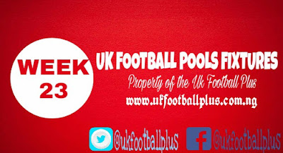 Wk23 uk football pools fixtures