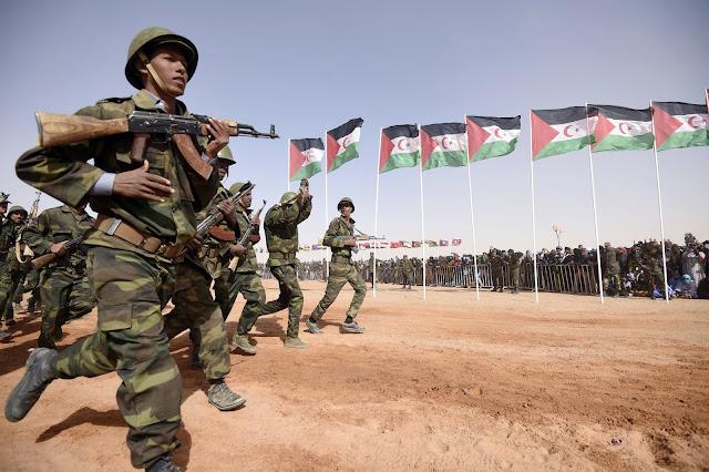 Resultado de imagen de ejercito saharaui hace maniobras militares