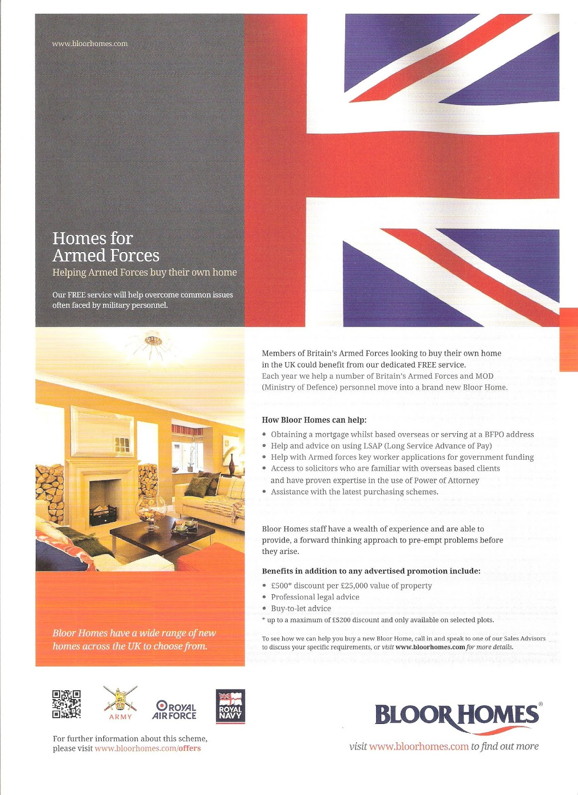 HEREFORD HIVE: Bloor Homes For Armed Forces