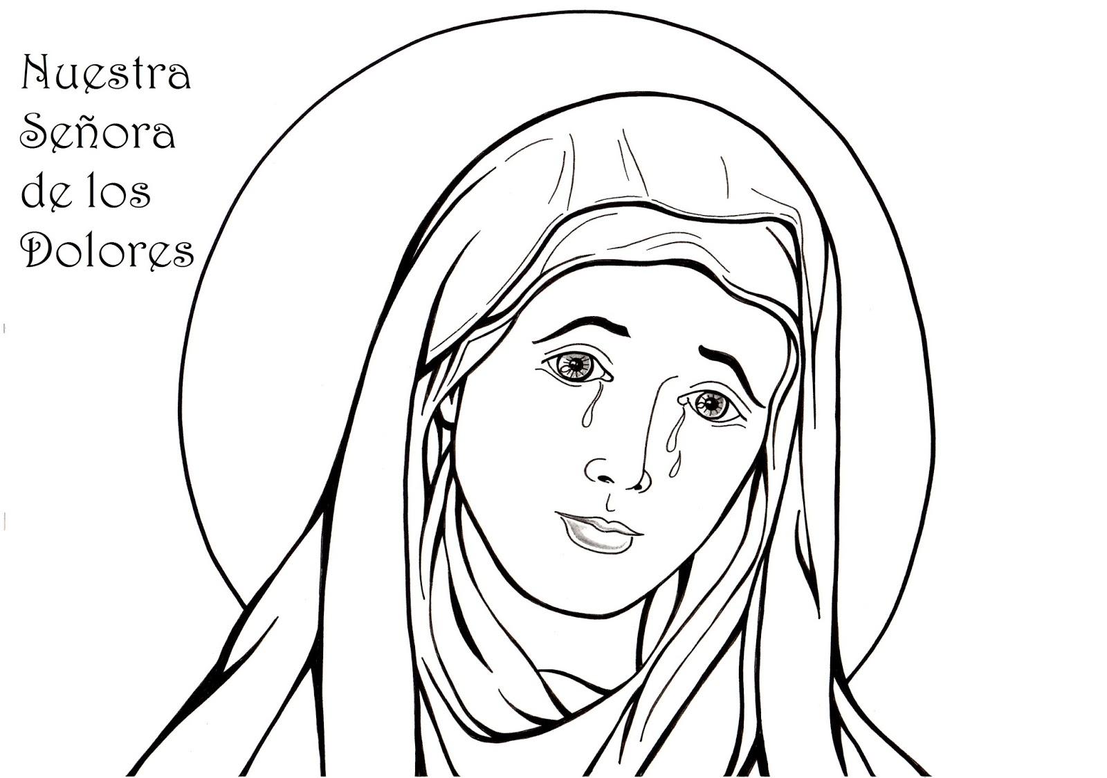 El Rincón De Las Melli Lámina Nuestra Señora De Los Dolores