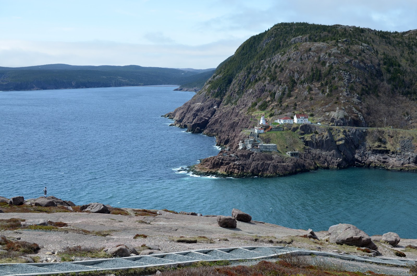 View of Fort Amherst from Signal Hill in St. John's