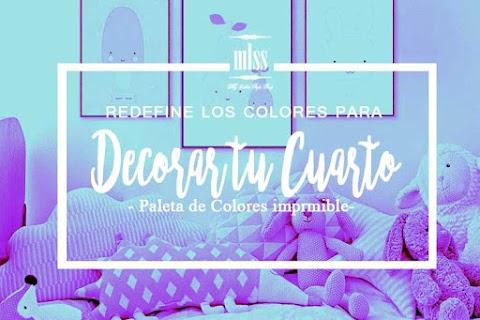 Redefine los colores para decorar tu cuarto+ Paleta de colores imprimible